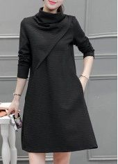 Stripe Print Long Sleeve Straight Dress on sale only US$27.79MAMA MIA now, buy cheap Stripe Print Long Sleeve Straight Dress at lulugal.com