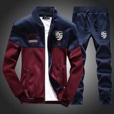 6bbd52dd9c Men s Sportswear suites Jacket+Pants