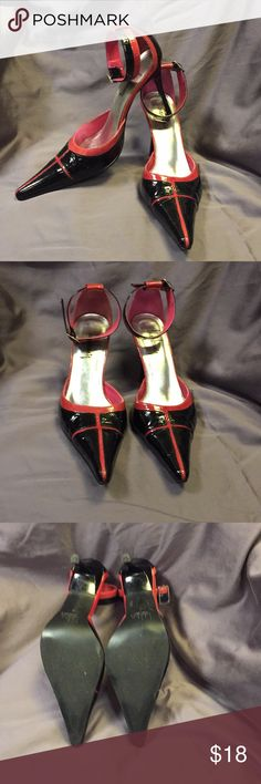 Pointy toe ankle strap heels In excellent condition. Size 8.5 Shoes Heels