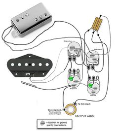 tele wiring diagram with 2 humbuckers telecaster build pinterest rh pinterest com Telecaster 3-Way Switch Wiring Diagram fender squier telecaster custom wiring diagram