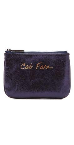 """Rebecca Minkoff """"cab fare"""" wallet :)"""