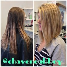 long angled bob before and after - Google Search | Hair ... maybe more layers in back than this