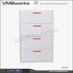 High Quality Legal Size Lateral 4 Drawer File Cabinet With Locks And Keys Metal Drawer Cabinet, Metal Drawers, Office File Cabinets, Filing Cabinets, Commercial Office Furniture, Lateral File, Furniture Market, Locks, Keys