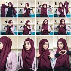 what style of hijab suits a round face - Google Search