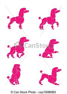 free clipart poodle - Google Search