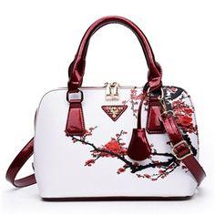 6b7c24a338478 Ericdress Ethnic Blue And White Porcelain Handbag Handbags Sac A Main  Lancaster