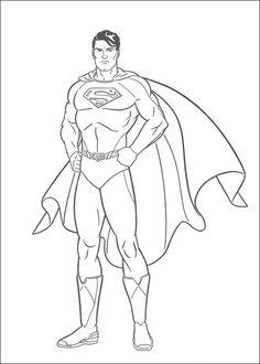 Dibujos para Colorear Superman 14