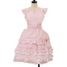 ハートエプロンスカート  ロリィタファッション BABY THE STARS SHINE BRIGHT | ベイビーザスターズシャインブライト (11990 yen)