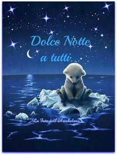Baby Polar Bear all alone on the floating ice in the starry night with half moon. Hurry up Momma bear. Illustration D'ours, Illustration Mignonne, Polar Bear Illustration, Animals And Pets, Baby Animals, Cute Animals, Art D'ours, The Big Theory, Art Mignon