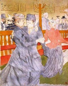 """Henri de Toulouse-Lautrec: """"Dancing at the Moulin Rouge"""""""