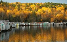 Stuntz Bay Lake Vermilion - so many memories of these boathouses on the lake.  I am guessing that will no longer be, given the state park location...