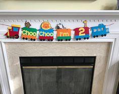 Choo Choo I'm 2 Animal Train, Choo Choo I'm Two Animal Train banner, Animal Train Theme Birthday Party, Animal Train Theme Birthday Banner