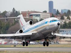 The world's first Boeing 727, which first flew in 1963. Awesome plane.
