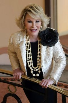Joan Rivers - Ground-breaking and controversial comedienne, one of the hardest working women in showbiz and created a huge business empire.