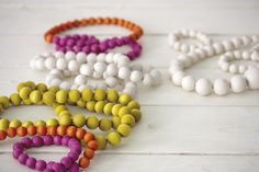 Necklaces and bracelets by Aarikka