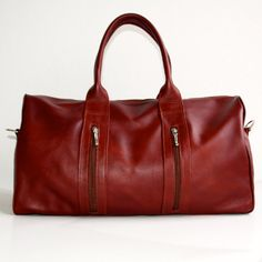 Leather weekend bag  Large brown leather bag  Duffle by VankDesign