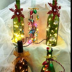 Wine Bottle Lamps!