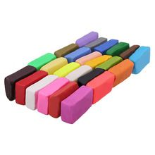 PHFU!Mixed Colour 24 Soft Sculpey Oven Bake Polymer Clay Modelling Moulding Block UK(China (Mainland))