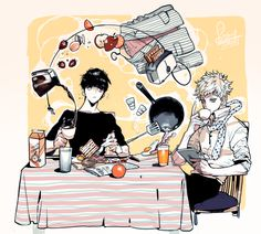 Shigeo and Teruki #breakfast #drinking