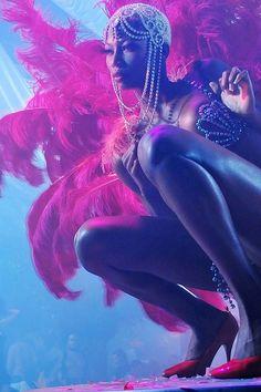 pacha club dancer ibiza feathers pink
