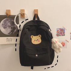 Aesthetic Backpack, Aesthetic Bags, Cute School Bags, Cute School Supplies, Kawaii Bags, Kawaii Clothes, Cute Mini Backpacks, Girl Backpacks, Bear Cartoon
