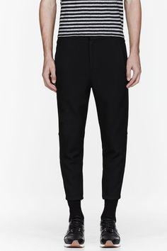 ALEXANDER WANG Black slim zippered trousers