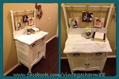 Made this antique wash stand functional for every household!! See more of my creations at www.facebook.com/vintagecharm88