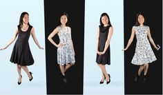 4 way reversible dress - inside-out & back-front!