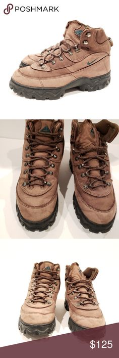 best cheap c0fbc dce6e Nike ACG vintage boots size 9.5 1997 nike acg boots hiking style caldera  brown mens 9.5