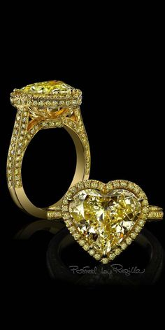 Regilla ⚜ Robert Procop's heart-shaped yellow diamond engagement ring