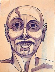 wine & ink 2015 (bottle one) viii by @rediscovercommu #portrait #life drawing