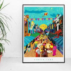 The post The Curious Creatures Of Camden Town Illustrated Poster appeared first on Action Manga - Anime. Mad Hatter Tea, Mad Hatters, Elephant Face, Camden Town, Curious Creatures, London Street, Manga Anime, Poster Prints, Victorian