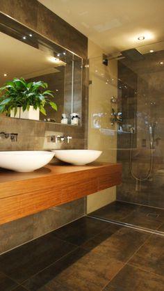 Bathroom interior design homes bathtub shower sink tile gay masculine decor Love it