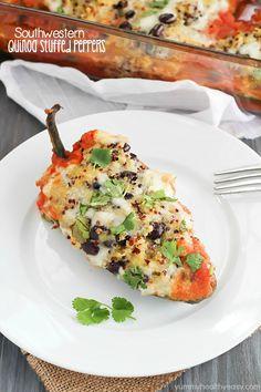 Southwestern Quinoa Stuffed Peppers Recipe -