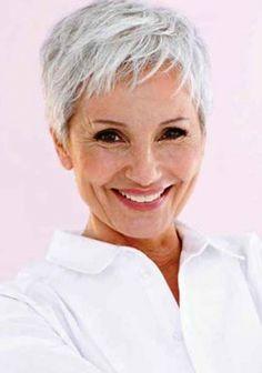 Pixie Haircuts for Older Women - Fantasies Hair - Hiro Haraguchi Salon Grey Hair Old, Short Grey Hair, Short Hair Older Women, Haircut For Older Women, Short Hair With Layers, Very Short Hair, Women Pixie Haircut, Short Pixie Haircuts, Mom Hairstyles