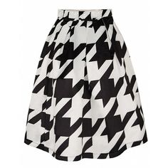 Alaroo Women's Black White Graphic Printed Bubble Midi Skirt with... ($9.50) ❤ liked on Polyvore featuring skirts, calf length skirts, midi skirt, black and white skirt, mid-calf skirt and black and white midi skirt