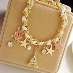 Gold Eiffel Tower Bracelet