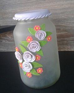 Pode decorado com biscuit no vidro fosqueado apenas 25,00
