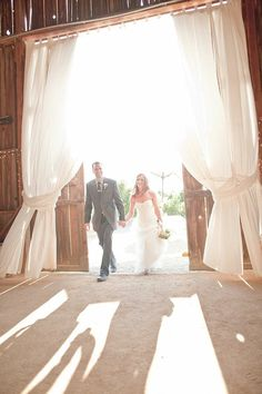 Soft, airy yet dramatic drapes for reception