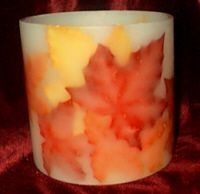 Autumn Leaf Hurricane Candle Making Project