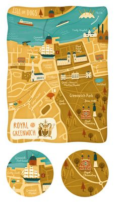 Greenwich Map on Behance Map - Cartography - Carte - Cartographie Greenwich Map, Travel Maps, Travel Posters, Motion Design, Draw Map, Tourist Map, Map Globe, Travel Illustration, Geography
