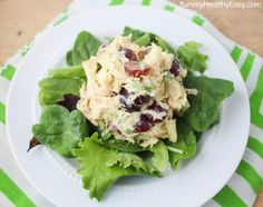 Crunchy Curry Chicken Salad: use cooked skinless chicken breast, count for almonds: assuming 6 servings = 1 P+ per serving, use FF mayo (Duke's preferred, Kraft OK). To Serve:  use a bed of lettuce.