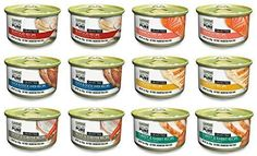 CANIDAE Grain Free PURE Canned Cat Food 6 Flavor Variety Bundle 2 Salmon 2 Trout  Lobster 2 Seafood 2 Chicken 2 Duck  Duck Liver and 2 Turkey  Rabbit 3 Ounces Each 12 Cans Total >>> Click image to review more details.