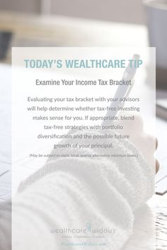 Today's Wealthcare Tip for #Widows: Examine Your Income Tax Bracket