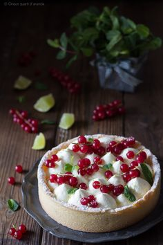 crostata con namelaka al lime
