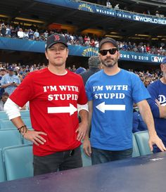 8daa52b03 Jimmy Kimmel And Matt Damon Renew Feud At World Series Game