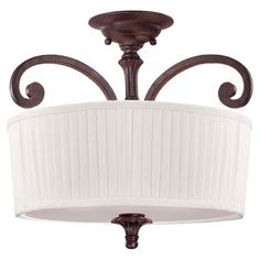 "SAVOY HOUSE | Berkshire semi-flush mount ceiling fixture | 327.00 retail | 16""dia x 15""h | 3-lights"
