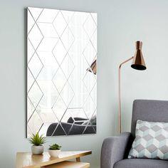 Grafischer Spiegel 120x71cm IVY