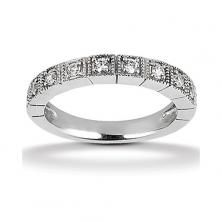 14k White Gold Womens Diamond Anniversary Or Wedding Band Containing 0.3 Carats Of Diamonds In Hi Color And Si1-si2 Clarity