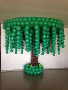 Balloon Tree, Balloon Wall, Balloon Bouquet, Balloon Arrangements, Balloon Decorations, Pink Party Favors, Mickey Mouse Invitation, Lion King Baby Shower, Balloon Columns